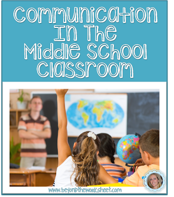 Communication in the Middle School Classroom