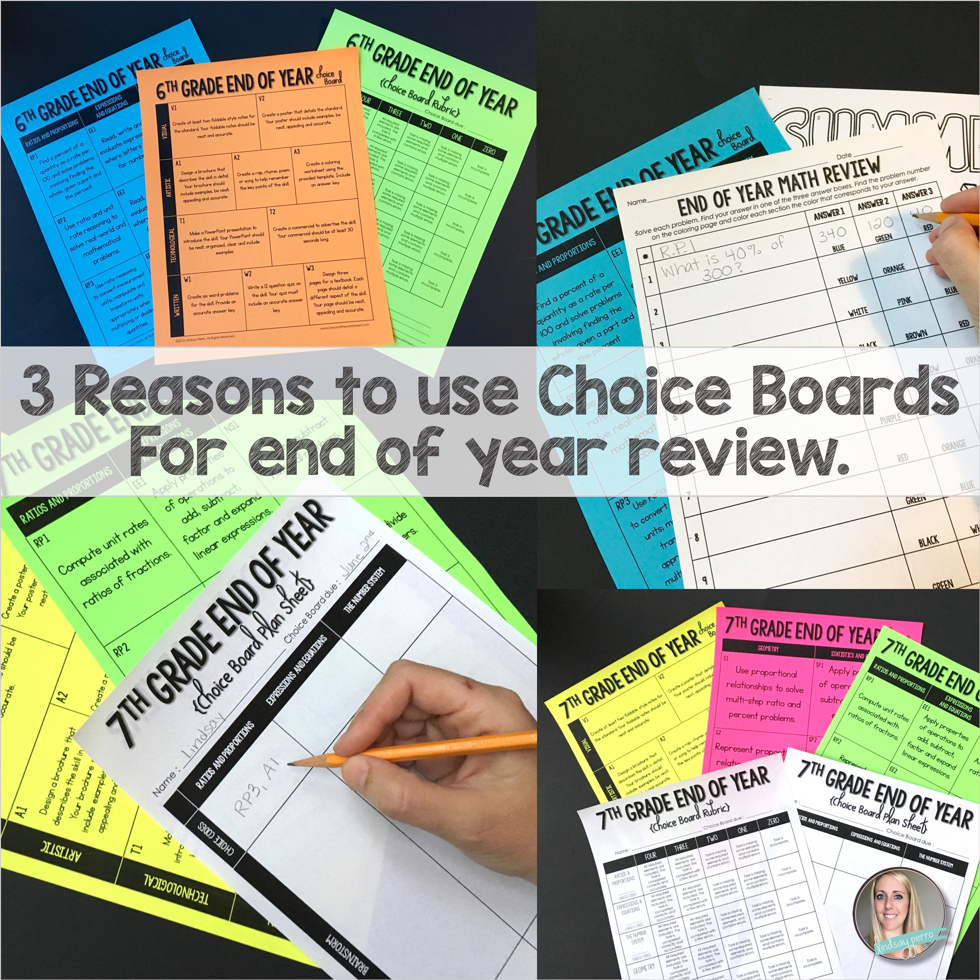 3 Reasons Choice Boards are PERFECT for End of Year Review