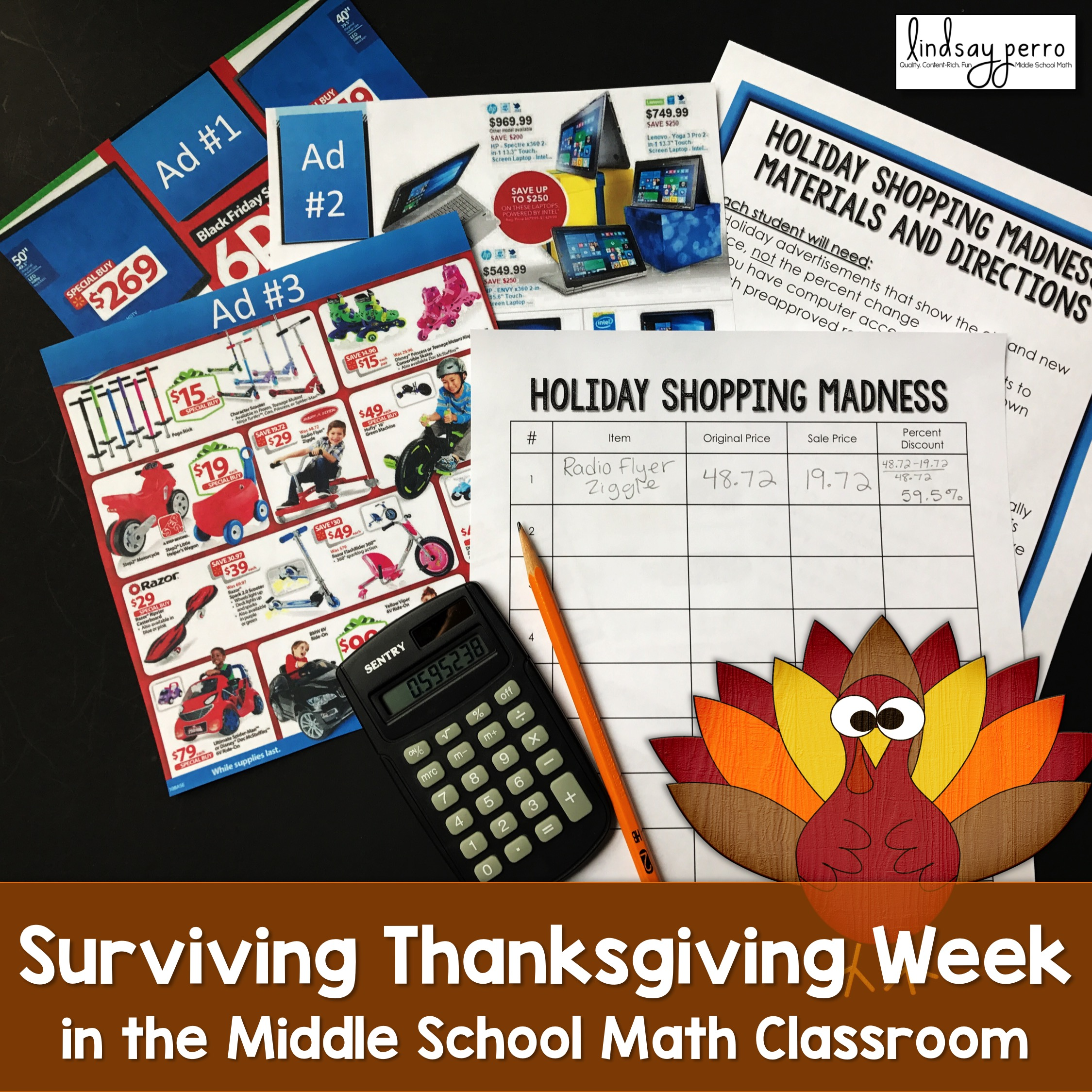 Surviving Thanksgiving Week in the Middle School Math Classroom