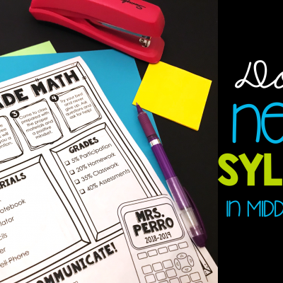 Do you NEED a syllabus in Middle School?